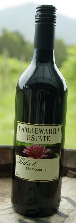Chambourcin red wine from Cambewarra Estate on the South Coast of New south Wales