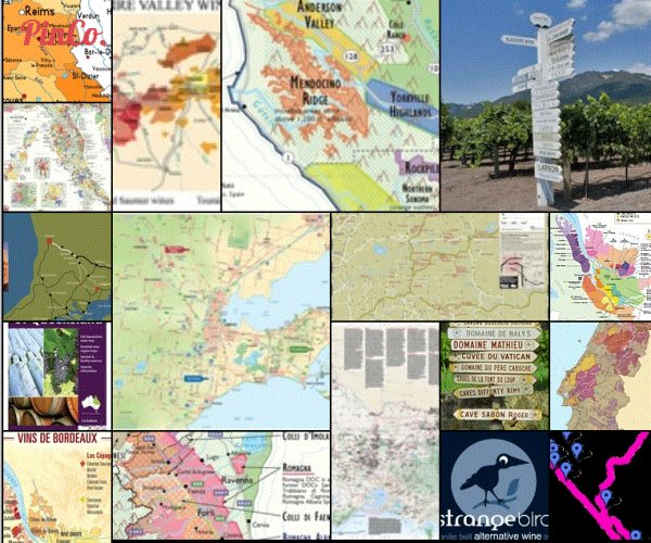 A collection of wine maps