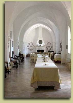 Dining hall at Terronia wine school