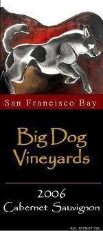 Dog on wine label