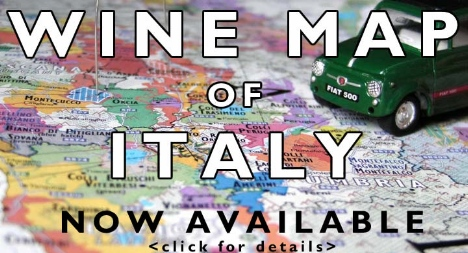 Wine map of Italy available