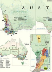 Australian Wines GI regions map