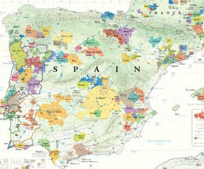 Spanish wine map