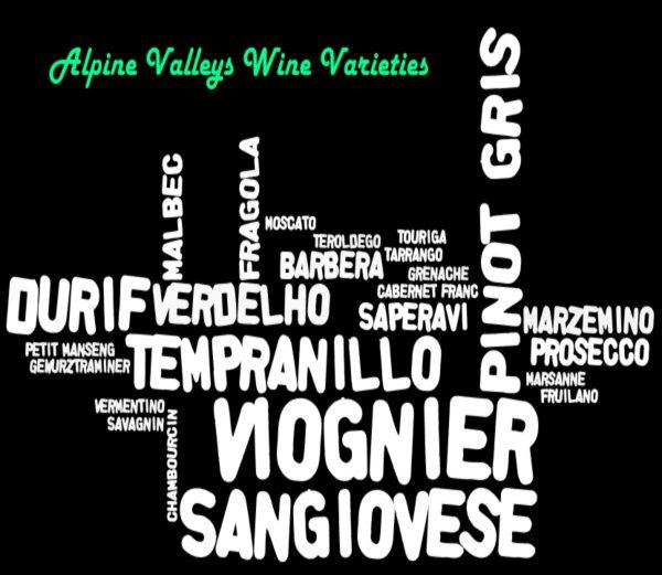 Grape varieties in the Alpine Valleys Wine Region