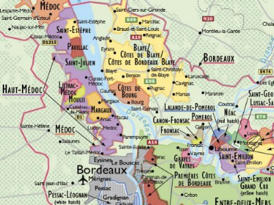Detail from de long wine map of france