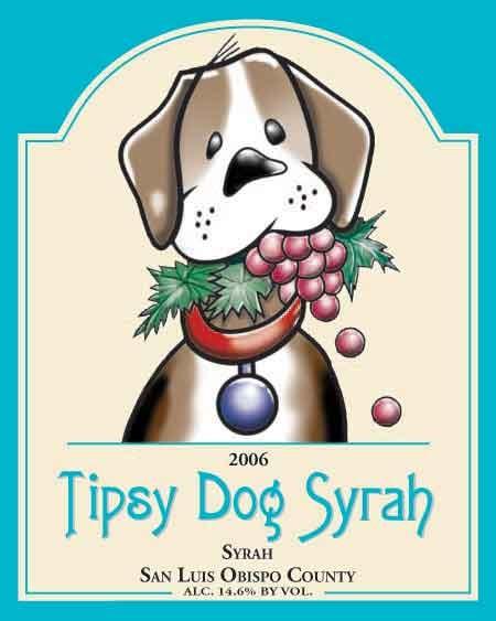 wine label dog