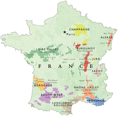 Outline of French wine regions