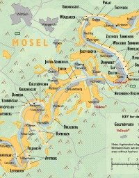 Wine map of germany mosel detail