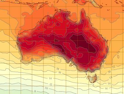 Heatwave conditions in Australia