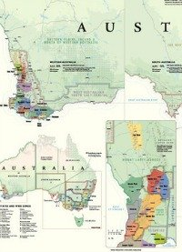 Australian Wines GI regions map
