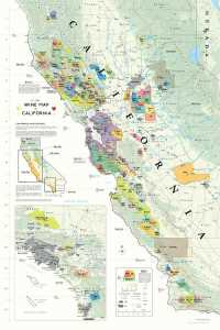 De Long's Wine Map of California clearly shows the AVAs