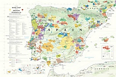Map of wine regions of Spain and Portugsl