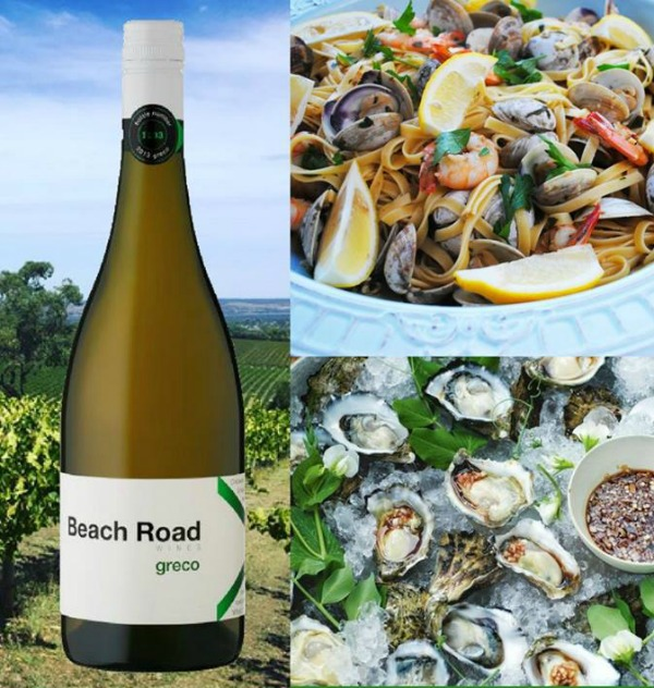 Greco white wine from Beach Road wines In McLaren Vale