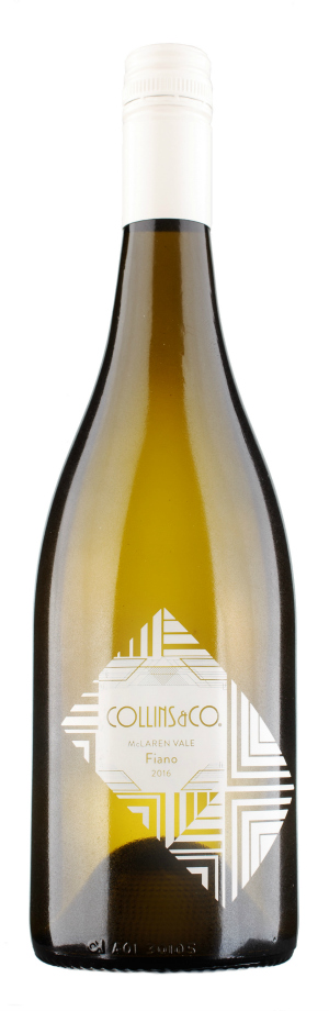 Collins and Co Fiano 2106. Grown in McLaren Vale. This wine won a gold medal at the 2016 Australian Alternative Variety Wine Show.