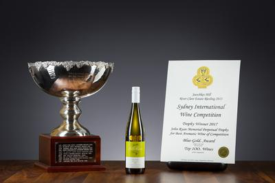 A trophy at the Sydney International Wine Show