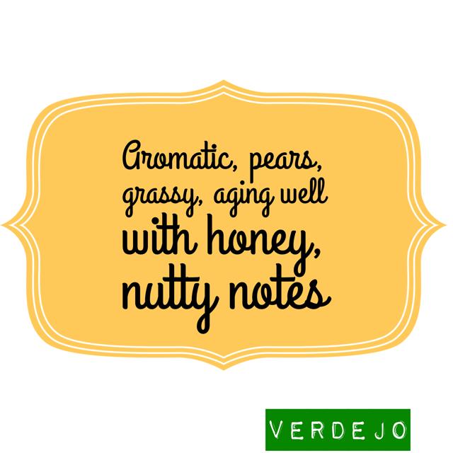 Descriptors of Verdejo white wine variety from De Long's Wine Grape Varietal table