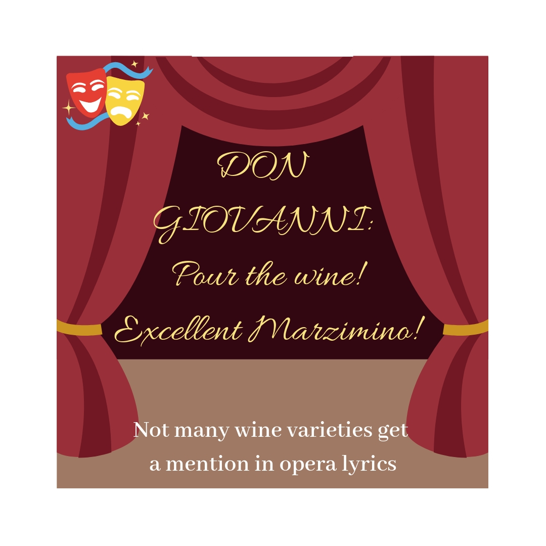 Marzemino wine variety gets a mention in Mozart's opera which premiered in 1787