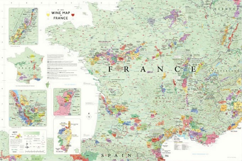 Detailed Map Of France Regions.Wine Map Of France