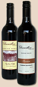 Two bottles of fine wine from Glenwillow