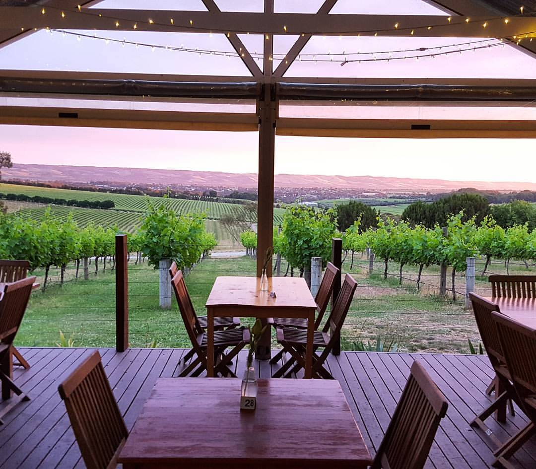 View over McLaren Vale from the Cellar door and Restaurant at Beach Road Wines