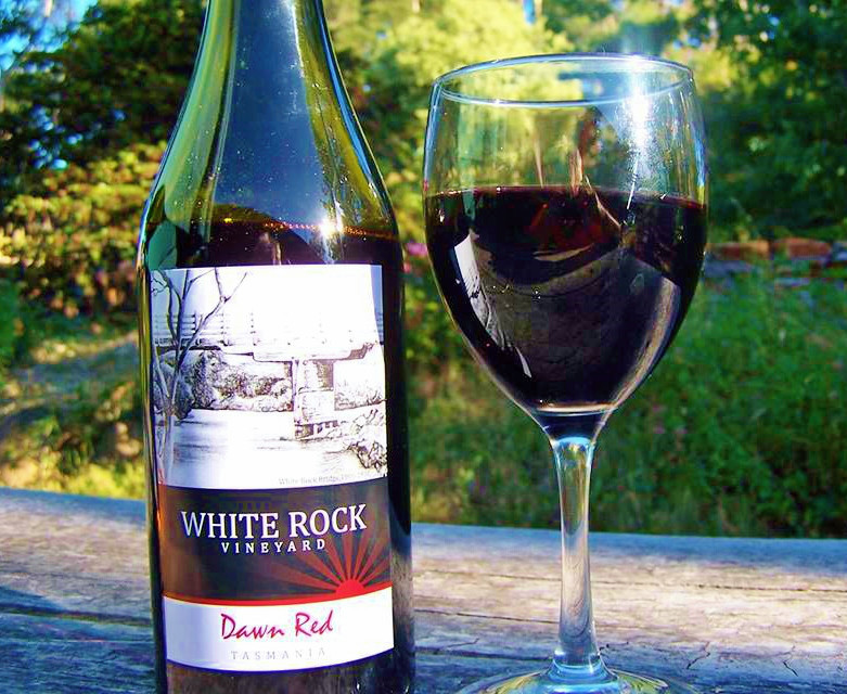 white rock dornfelder wine from tasmania