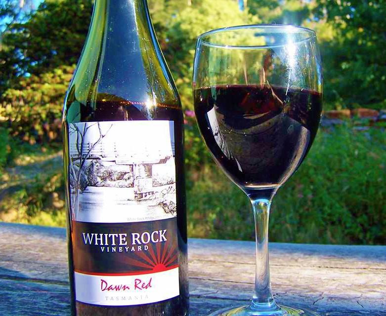 white rock dornfelder wine from tasmania