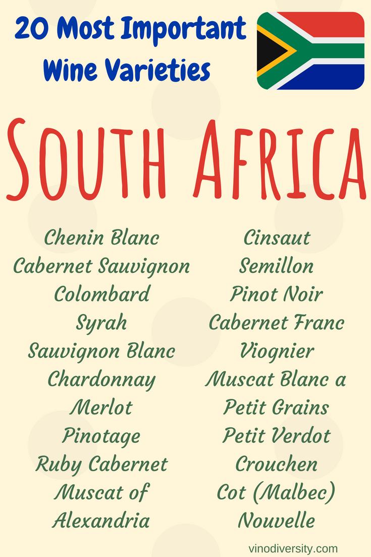 Wine grape varieties in South Africa