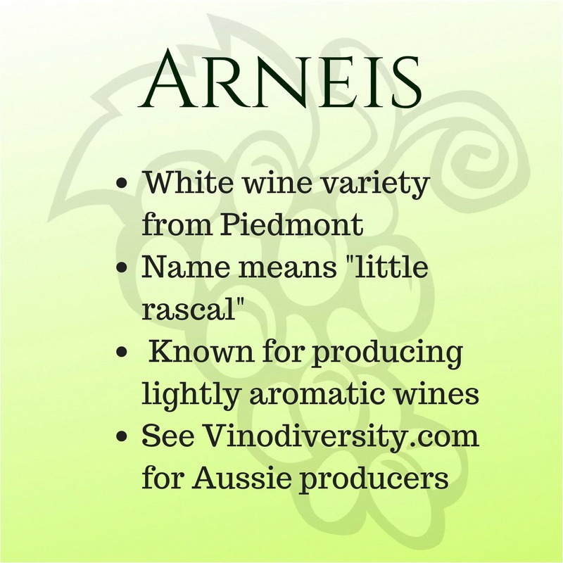 Quick facts about Arneis white wine variety