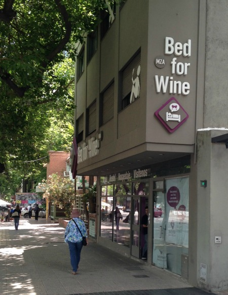 A wine hotel in Medoza, Argentina