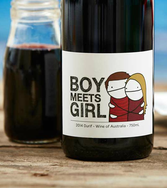 Durif red wine made by the innovative Boy Meets Girl.