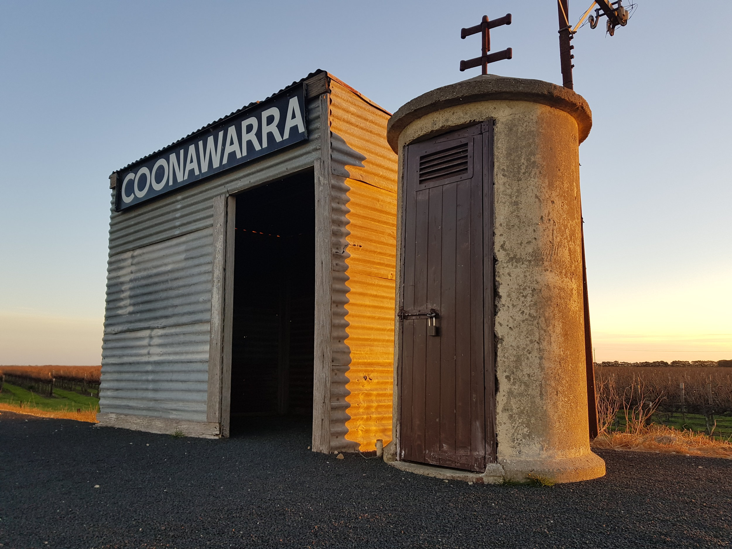 The old rail siding in the heart of the Coonawarra wine region