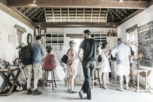 The cellar door of Cuppit's Winery in the Shoalhaven Coast Wine Region of NSW
