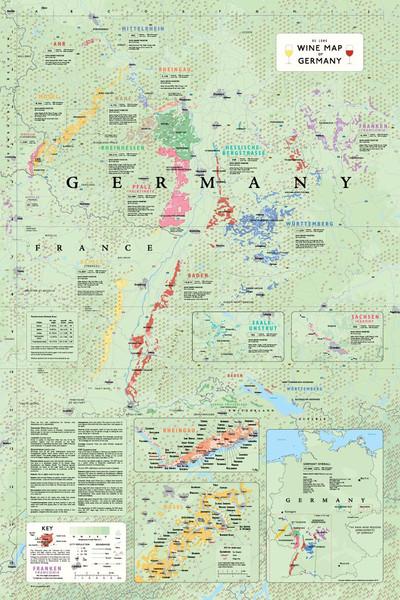 Wine Map of Germany by De Long