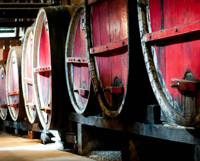 Fortified wines ageing in Campbells Winery