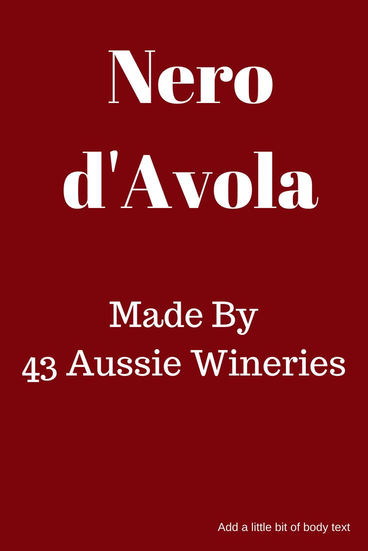 Nero d'Avola Australia