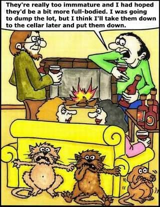 wine dog cartoon